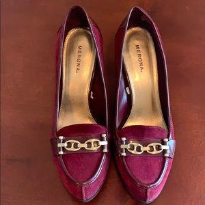 ⬇️ Merona Suede and Patent Heels